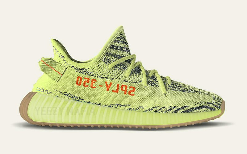 low priced bc7a0 f177c ADIDAS YEEZY BOOST 350 V2 SEMI FROZEN YELLOW SNEAKERS LEAK ...